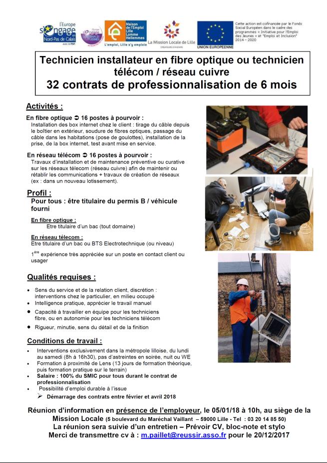 Mie Du Roubaisis 32 Techniciens En Contrat De Professionnalisation